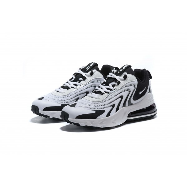 Nike Air Max 270 React v3 white black women shoes