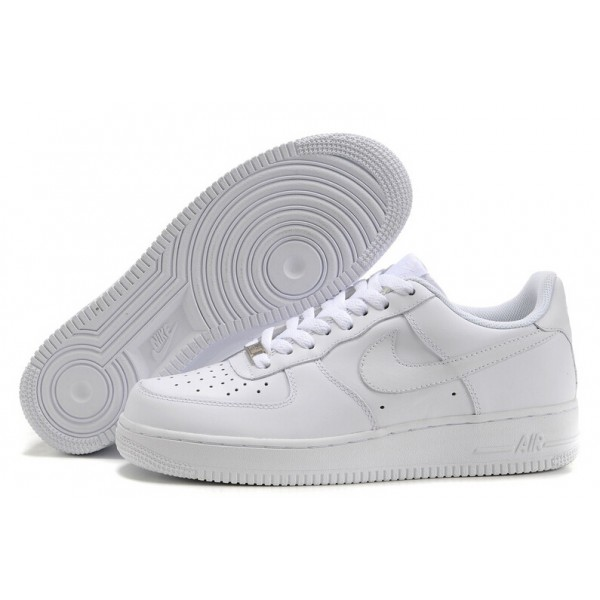 Nike Air Force 1 / One Whole White Women's Shoes Low Top Classic