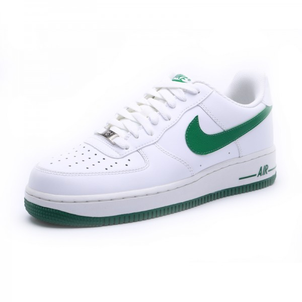 Nike Air Force 1 / One White Green Men's Shoes Low Top Classic