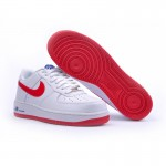 Nike Air Force 1 / One White Red Men's Shoes Low Top Classic