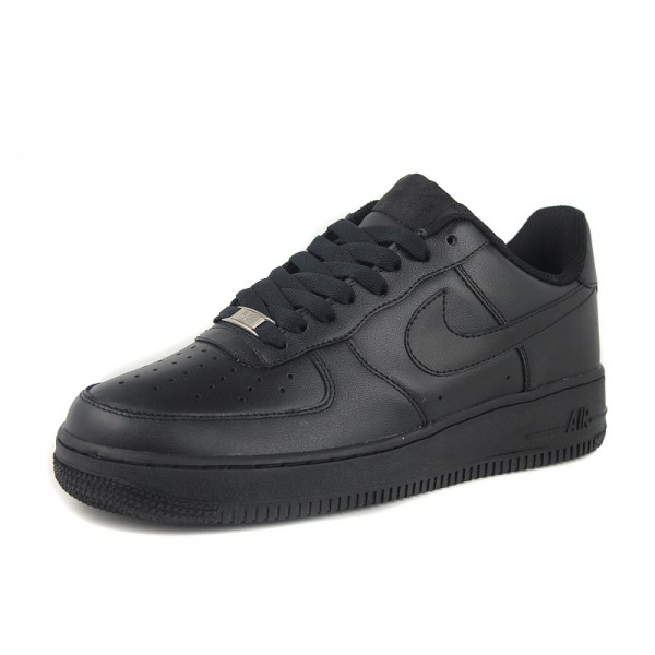 pretty nice b896f 2c7b9 Nike Air Force 1  One Whole Black Mens Shoes Low Top Classic