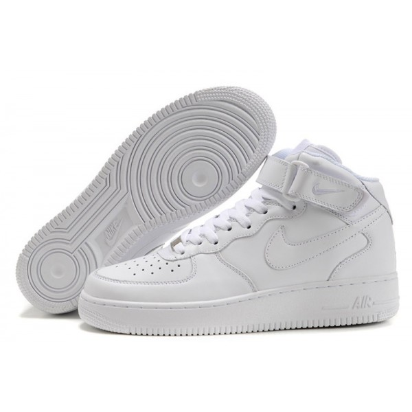 Nike Air Force 1 / One Whole White Women's Shoes High Top Classic