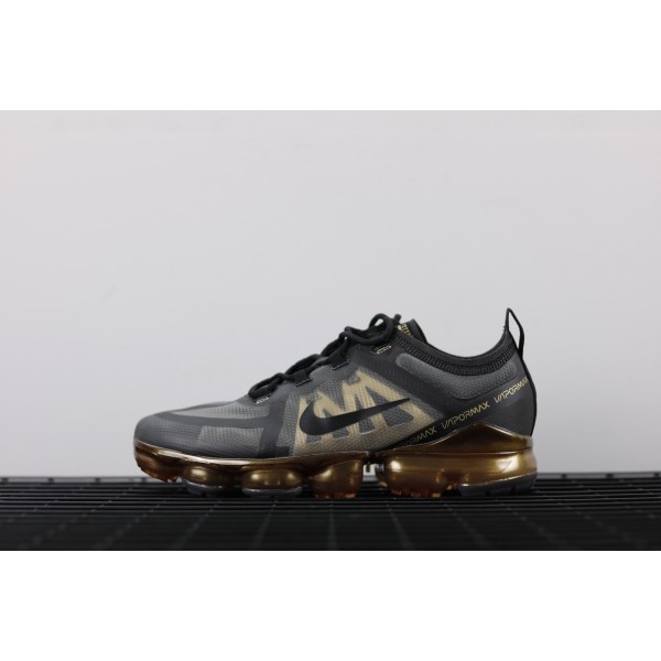 Nike Air VaporMax 2019 gold black women shoes