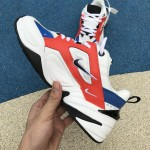 Nike Air Monarch 4 M2K Tekno white red blue women shoes