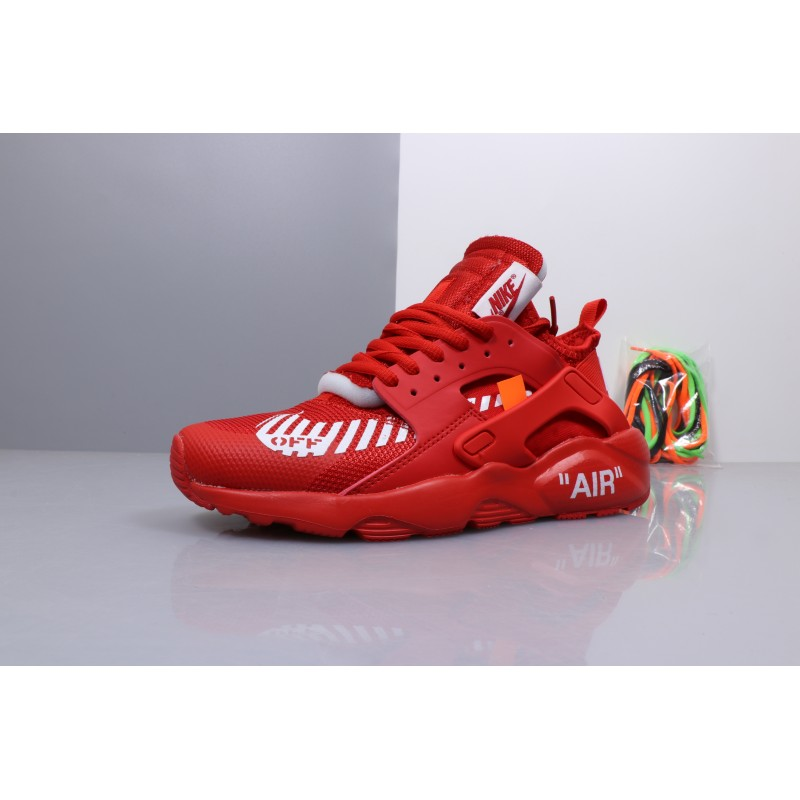 best authentic a1123 3c2ca OFF WHITE x Nike Air Huarache Ultra red women shoes