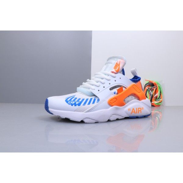 OFF WHITE x Nike Air Huarache Ultra white blue orange men shoes