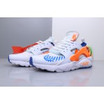 OFF WHITE x Nike Air Huarache Ultra white blue orange women shoes