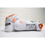 "Nike Air Force 1 / One ""Just do it"" Mid Tops white men shoes"