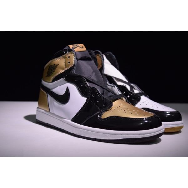 "Nike Air Jordans 1 RETRO HIGH OG ""GOLD TOE"" men shoes"