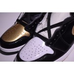 "Nike Air Jordans 1 RETRO HIGH OG ""GOLD TOE"" women shoes"