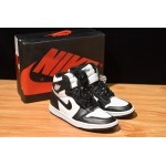 Nike Air Jordans 1 RETRO HIGH OG black white men shoes