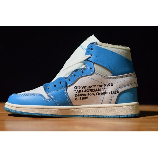 NIKE AIR JORDAN 1 X OFF WHITE NRG white blue women shoes