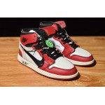 NIKE AIR JORDAN 1 X OFF-WHITE NRG white red black men shoes