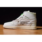 NIKE AIR JORDAN 1 X OFF-WHITE NRG all white men shoes