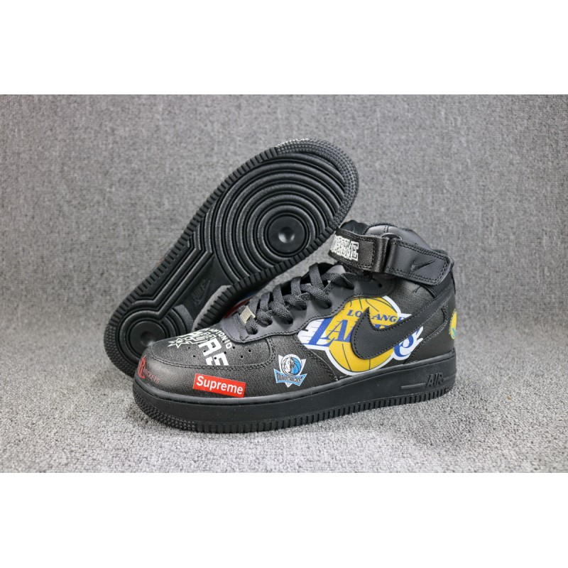 Nike Air Force 1One Supreme NBA black men shoes