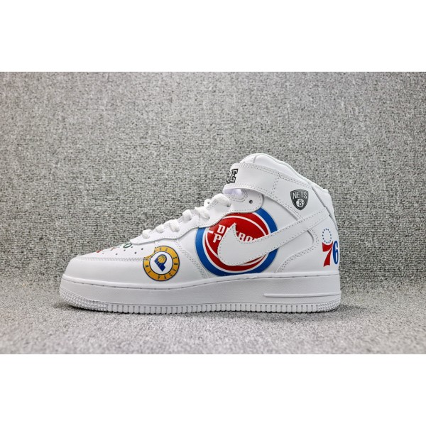 Nike Air Force 1/One Supreme NBA Mid Tops white men shoes