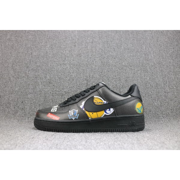 Nike Air Force 1/One Supreme NBA  black women shoes