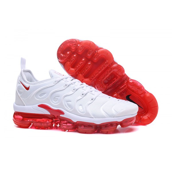 NIKE VAPORMAX 2018 TN PLUS white red men shoes