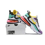Nike Air Max 270 React white purple yellow men shoes