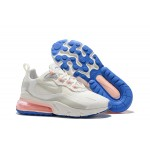 Nike Air Max 270 React pink white blue women shoes