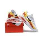 Nike Air Max 270 React white yellow red men shoes