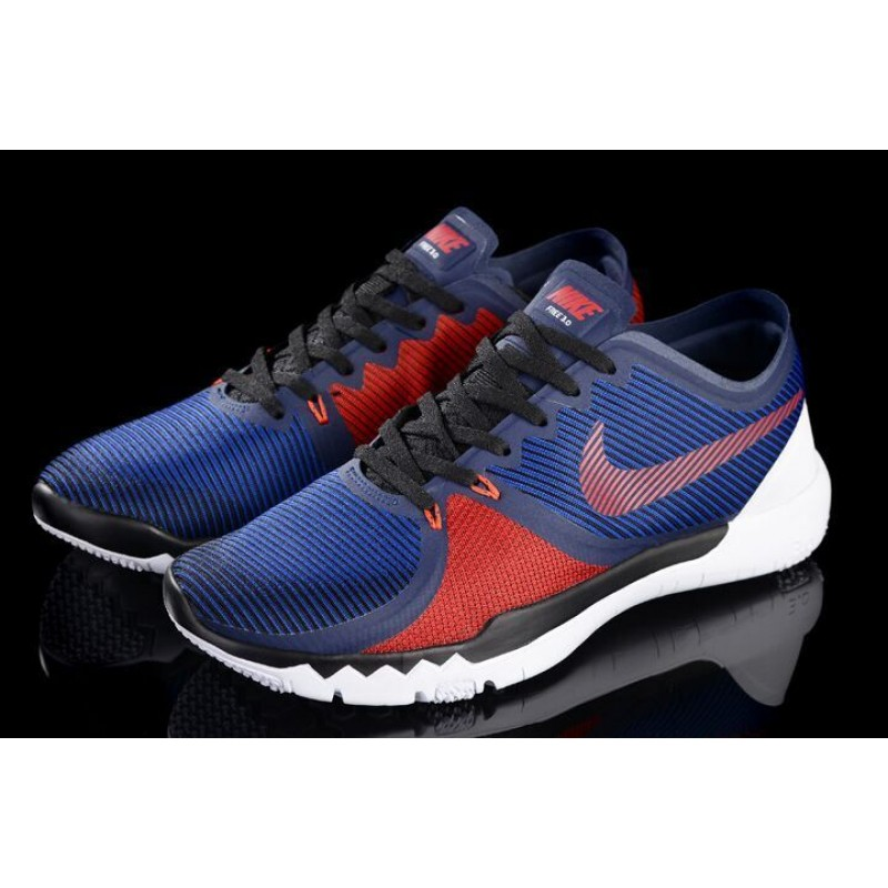 the latest 372a4 27686 Nike Free Trainer 3.0 v4 men s shoes navy blue red