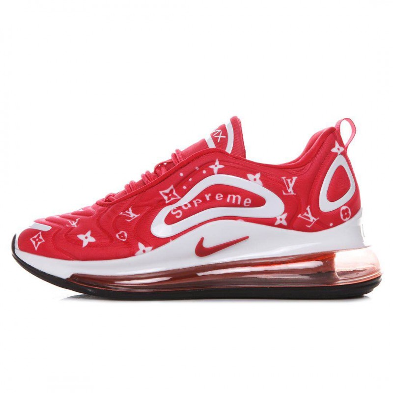 premium selection f63f3 82e90 Nike Air Max 720 Louis Vuitton Supreme red and white Men's Shoes