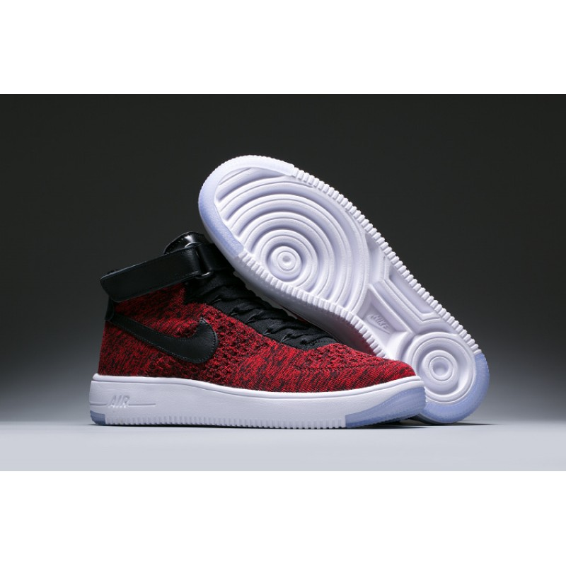 WMNS Nike Air Force l Flyknit men\u0027s shoes red