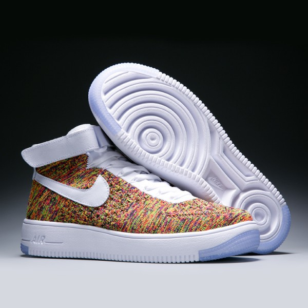 WMNS Nike Air Force l Flyknit women's shoes yellow