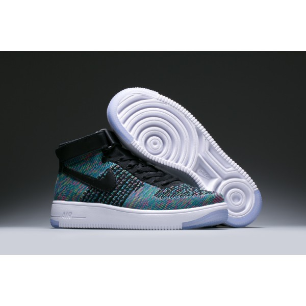more photos dfe72 73479 WMNS Nike Air Force l Flyknit womens shoes blue