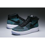 WMNS Nike Air Force l Flyknit women's shoes blue