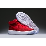WMNS Nike Air Force l Flyknit women's shoes red white