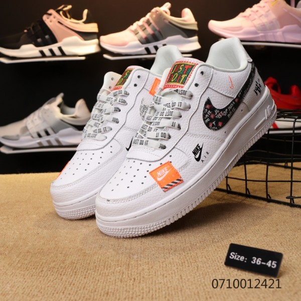 "Nike Air Force 1 / One ""Just do it"" white men shoes"