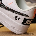 "Nike Air Force 1 / One ""Just do it"" white women shoes"