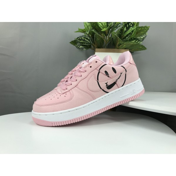 "Nike Air Force 1 ""Have A Nike Day"" Smiley Face -  Women's pink Shoes Low Top Classic"