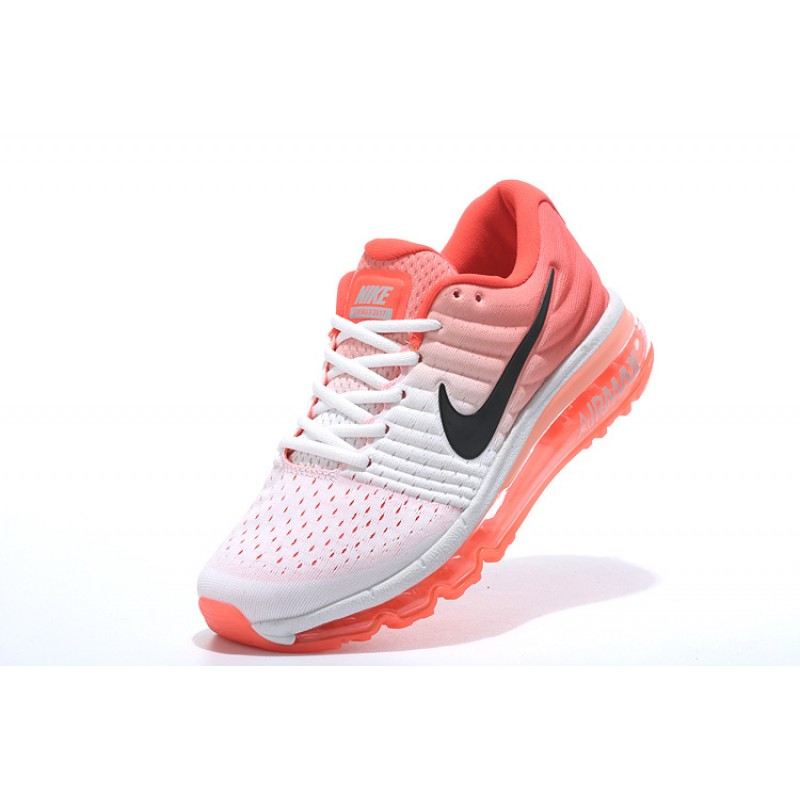 Nike Air Max 2017 Trainers Orange White 8495601 106 Girl's Trainers Women's Running Shoes