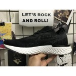 Nike Epic React Flyknit black white men running shoes