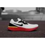 Nike Epic React Flyknit white red men running shoes