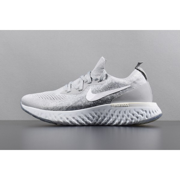 Nike Epic React Flyknit gray women running shoes