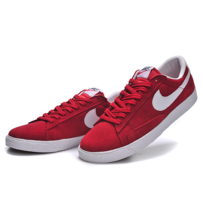 Nike Blazer Women Red Low Shoes