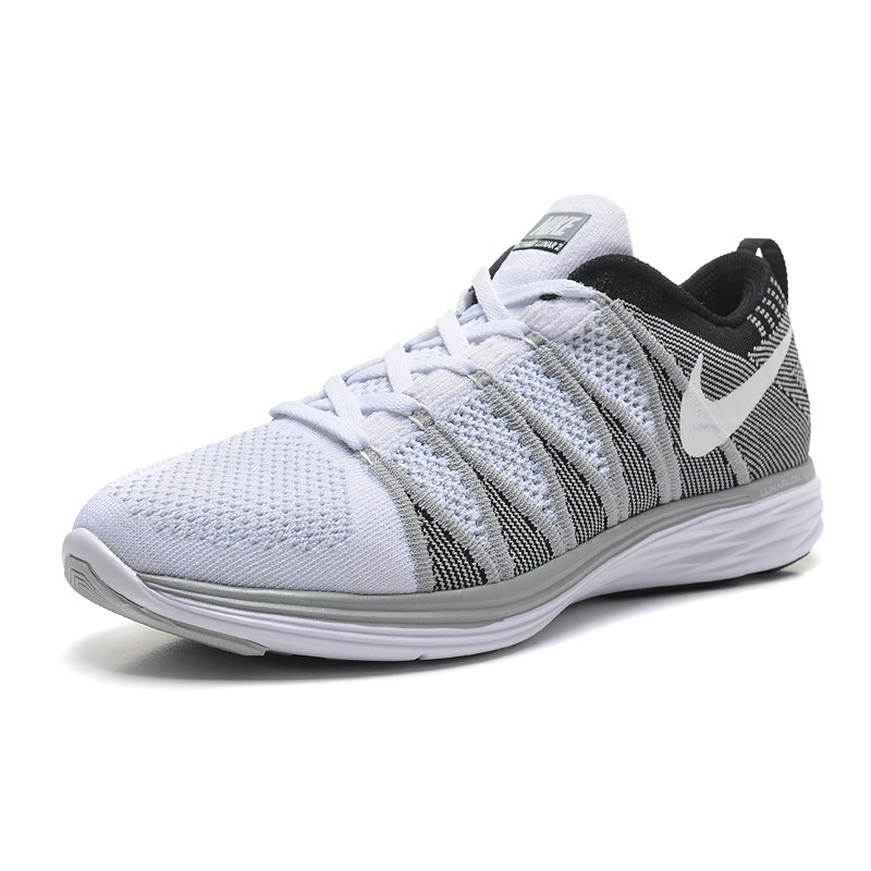 detailed look cad98 4fb67 Nike Flyknit Lunar 2 men's shoes silver