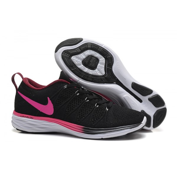 new style 004a7 a81bf Nike Flyknit Lunar 2 women s shoes black red