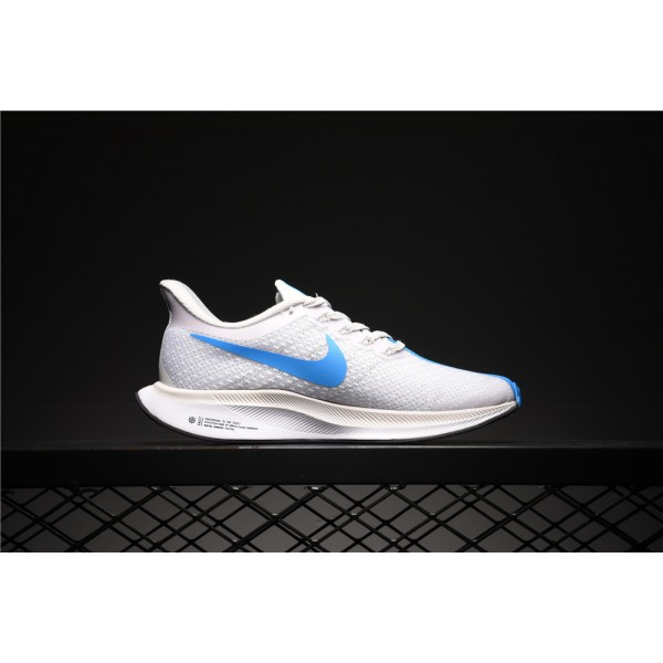 info for 380a8 1b182 Nike Zoom Pegasus 35 Turbo white and blue women's running shoes
