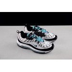 "Nike air max 98 ""White Fossil"" blue and white men's running shoes"
