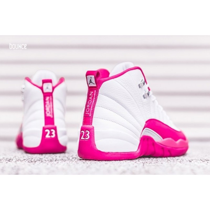 official photos ad5c8 5a379 Nike Air Jordans 12 Women white pink basketball shoes