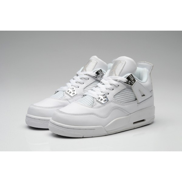 2017 Nike Air Jordan 4 whole white men basketball shoes