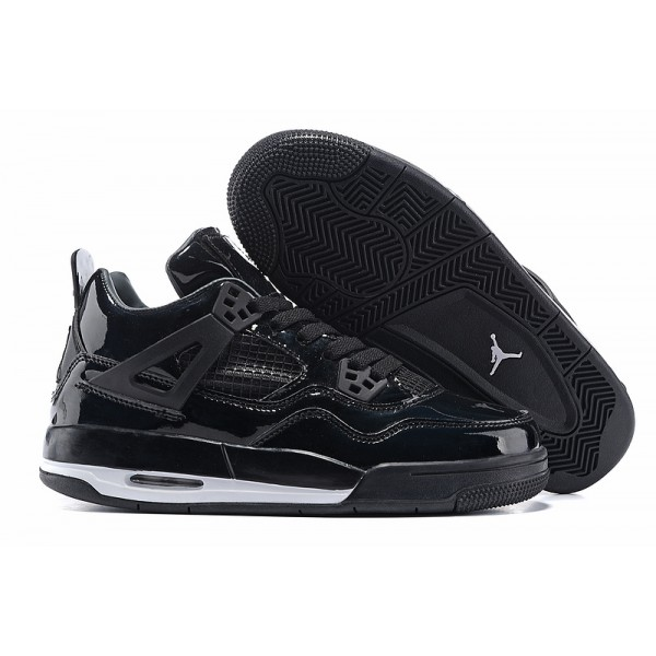 2017 Nike Air Jordan 4 mirror  whole black men basketball shoes