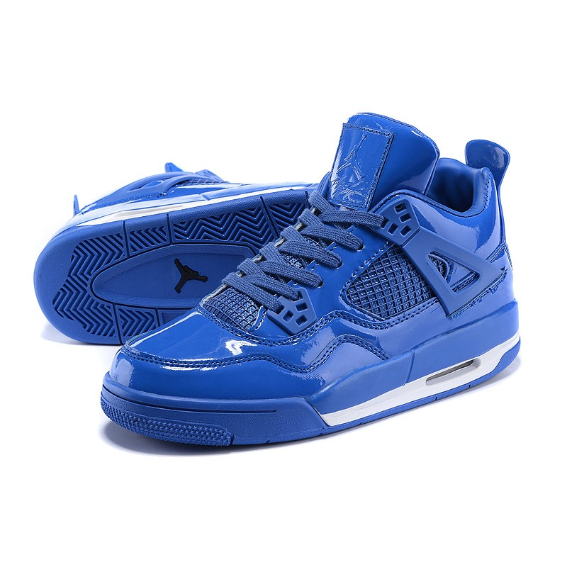 2017 Nike Air Jordan 4 mirror whole blue women basketball ...