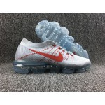 Nike Air 2018 Vapormax Flyknit white red men shoes