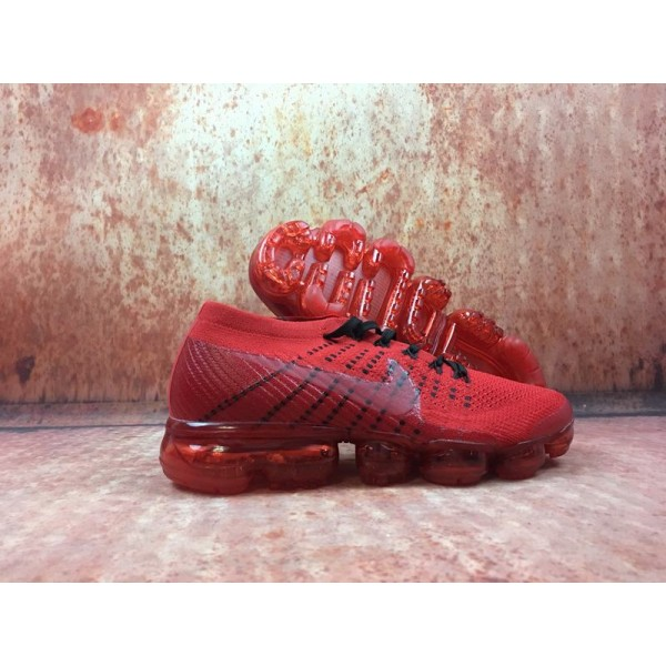 Nike Air 2018 Vapormax Flyknit whole red men shoes